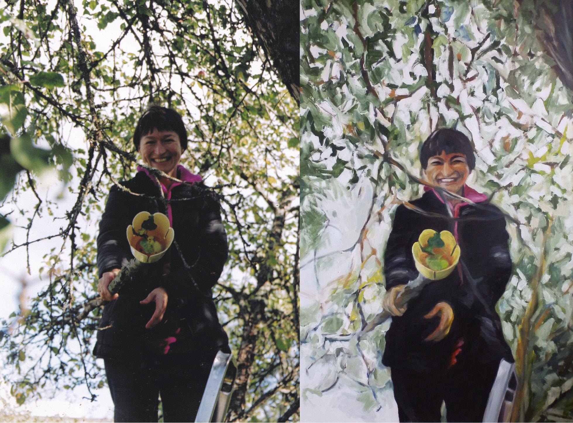 Foto ja maal, 2005, Ükshaaval, õli vineeril 125x83cm