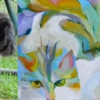 Foto ja maal, 2014, Mosaiik, õli lõuendil 30x30cm