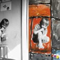 Foto ja maal, 2004, Labürint, õli lõuendil 55x75cm