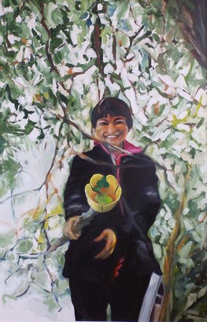 Ükshaaval, õli vineeril 125x83cm, 2005