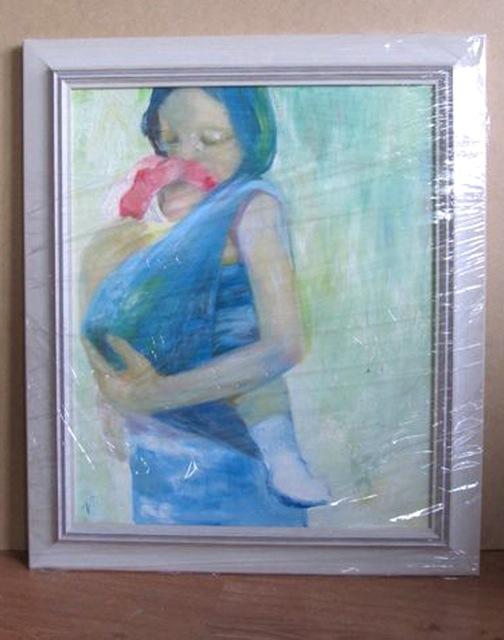 Ema lapsega, õli lõuendil 60x50cm, 2013