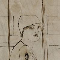 2005, Kaks, puupõletus, 76x77cm