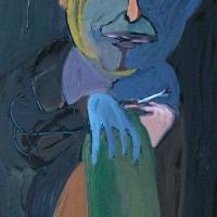 2010, Jõudehetk, õli papil 70x105cm