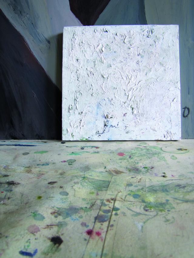 Valge raamita, õli lõuendil 30x30cm, 2008