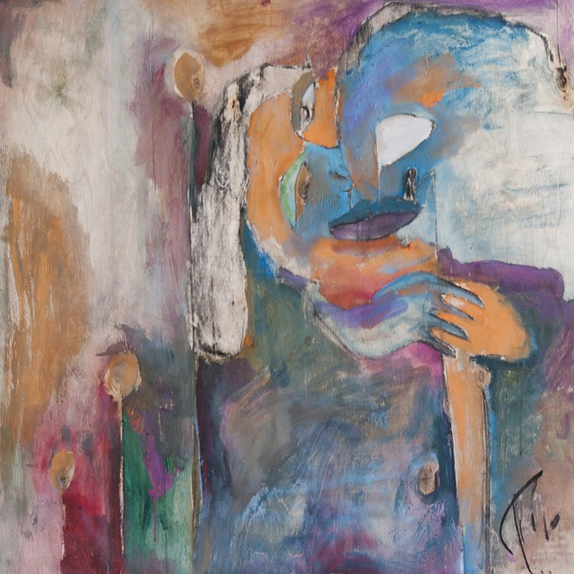 Kalal, õli vineeril 76x76cm, 2010