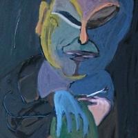 Jõudehetk, õli papil 70x105cm, 2010