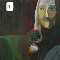 Lülitivalgel, õli papil 104x93cm, 2010