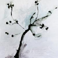 2004, A tree, õli papil 92x81cm