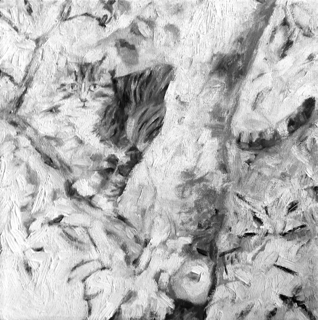 Kaob ja naaseb, õli lõuendil 30x30cm, 2014