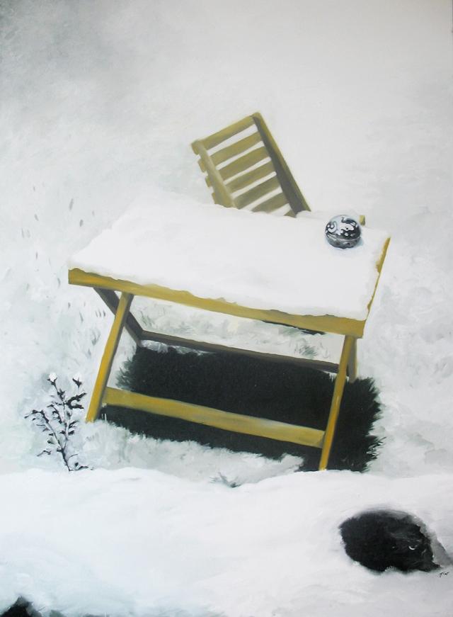 2005, Esimene lumi 17. okt 2003, õli lõuendil 159x219cm