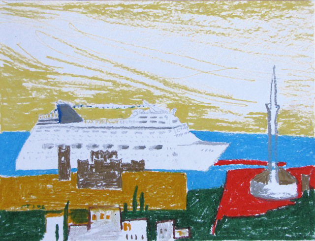 pastell Rhodos, 2006-12, pastell A3