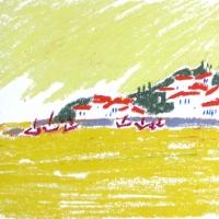 Leitsak, Peloponnesos, 2005, pastell A4