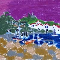 Kai, Peloponnesos, 2005, pastell A4