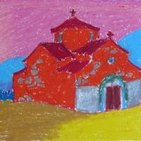 Palvela, Peloponnesos, 2005, pastell A4