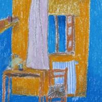 Majutus, Rhodos, 2006, pastell A3