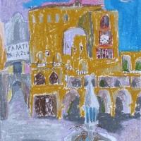 Rhodose vanalinn, Rhodos, 2006, pastell A3