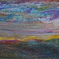 Egeuse meri, Rhodos, 2006, pastell A3