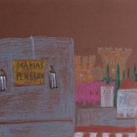 Külalistemaja, Rhodos, 2006, pastell A3