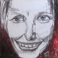 Autor, 2011, pastell 50x50cm