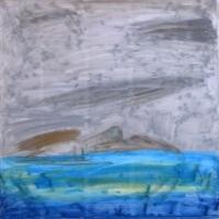 Puhkus, 2011, pastell 50x50cm